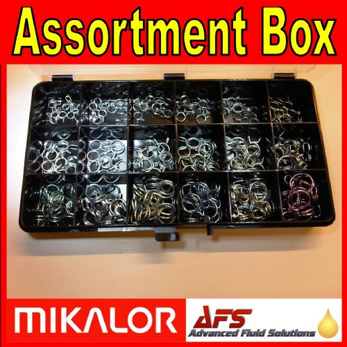 180 Piece Double Wire Spring Clip Assortment Box